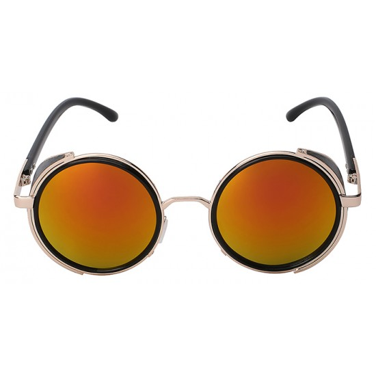 Ochelari de soare Rotunzi Steampunks Gold