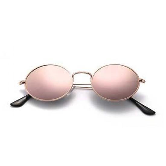 Ochelari de soare John Lennon Vintage Roz Retro cu reflexii