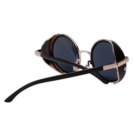 Ochelari de soare Rotunzi Steampunk Negru