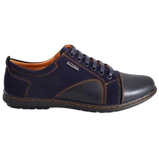 Pantofi Casual Barbatesti bleumarin Renda
