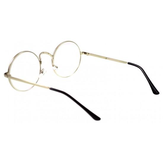 Ochelari - Rame cu lentile transparente sidefate Harry Potter Rotund John Lennon Argintiu