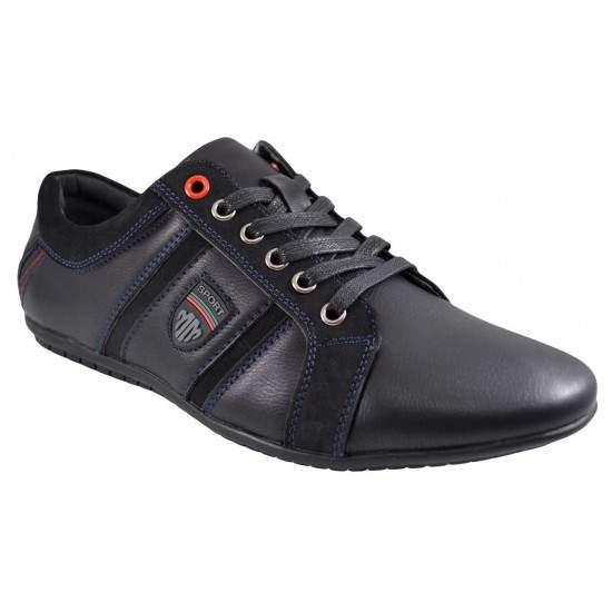 Pantofi Casual Barbatesti negri Moneymaker - MM