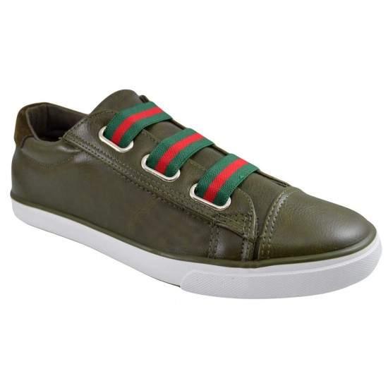 Pantofi Casual Barbati Verde Kaki cu elastice smart