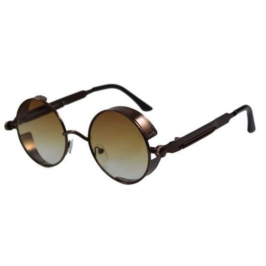 Ochelari de soare Rotunzi Steampunk Cronic Maro