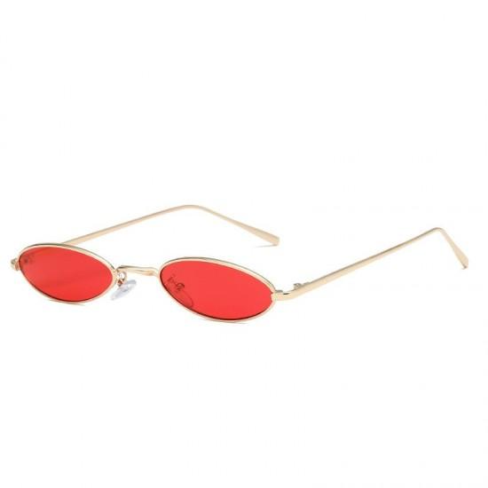 Ochelari de soare dama Retro Ovali Vintage Rosii
