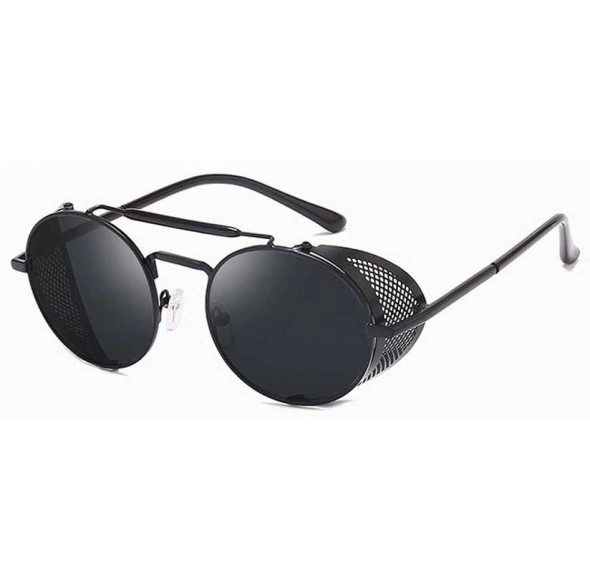 Ochelari de soare Rotunzi Steampunk Cage Negru