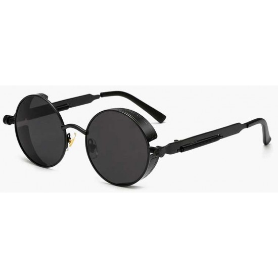 Ochelari de soare Rotunzi Steampunk Cronic Negru