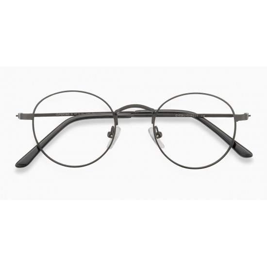 Ochelari - Rame cu lentile transparente Harry Potter Semirotund Oval John Lennon Gri