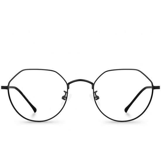 Ochelari - Rame cu lentile transparente Hexagonal Negri