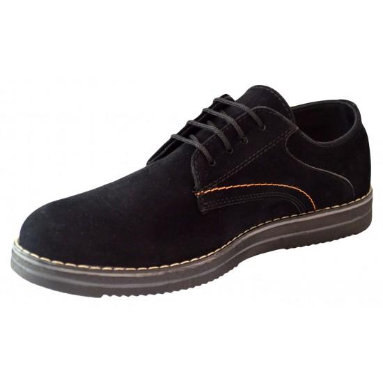 Pantofi barbatesti negri piele intoarsa II