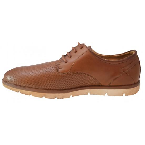 Pantofi barbati, maro, perforati cu talpa crem III