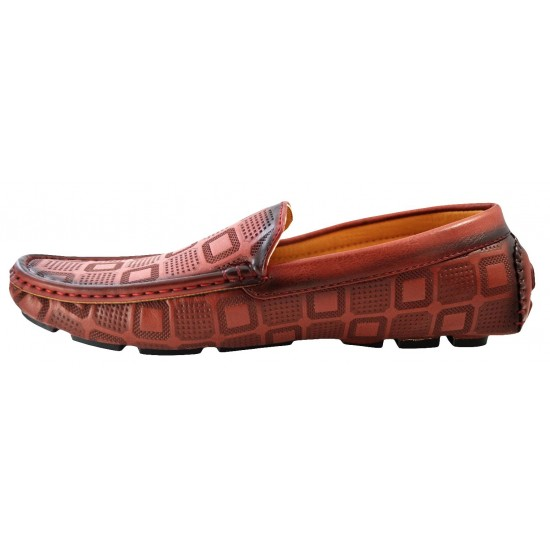 Mocasini Barbatesti, Rosu-Bordo, FreeFresh