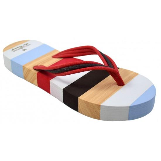 Slapi de plaja, gradina sau sala pentru femei, papuci, multicolor, Casual - Caraibe Sunrise