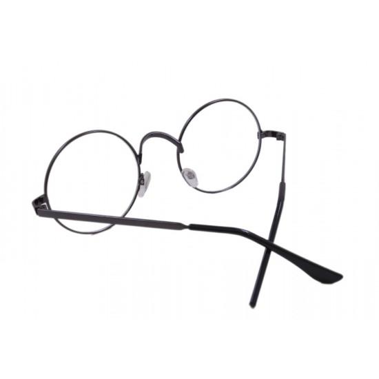 Ochelari de soare cu lentile transparente, Harry Potter, Rotund, John Lennon Negru