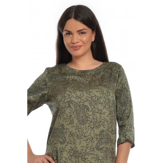 Tunica Dama, Verde, cu imprimeu paisley