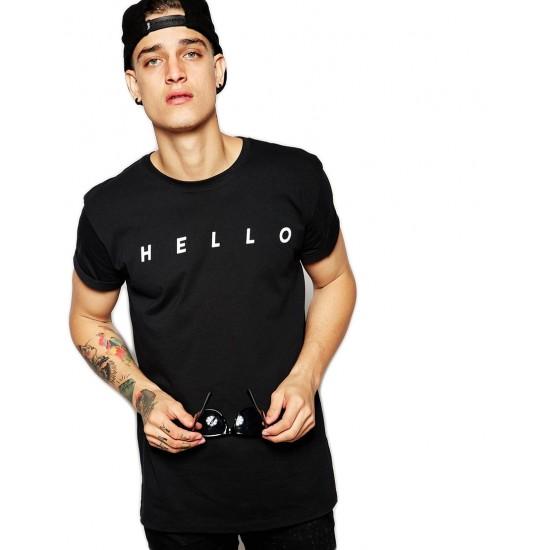 Tricou negru barbati - HELLO
