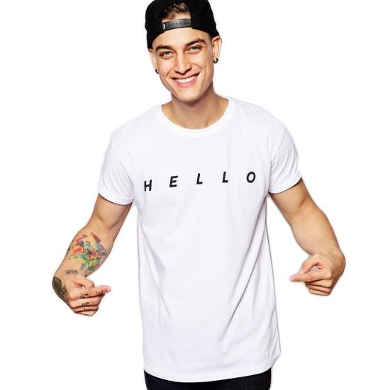 Tricou barbati alb - HELLO