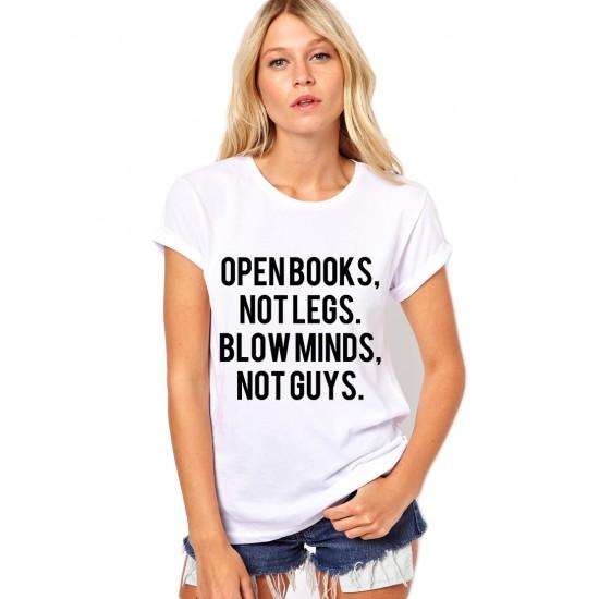 Tricou dama alb  -  Open Books