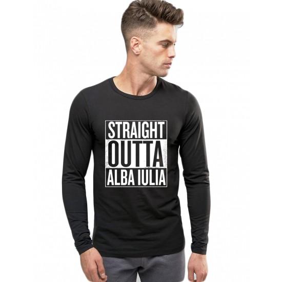 Bluza barbati neagra - Straight Outta Alba Iulia