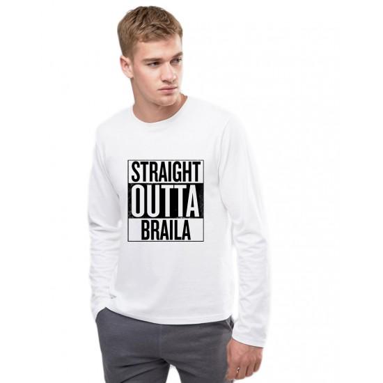 Bluza barbati alba - Straight Outta Braila