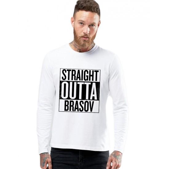 Bluza barbati alba - Straight Outta Brasov