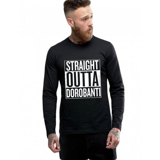Bluza barbati neagra - Straight Outta Dorobanti