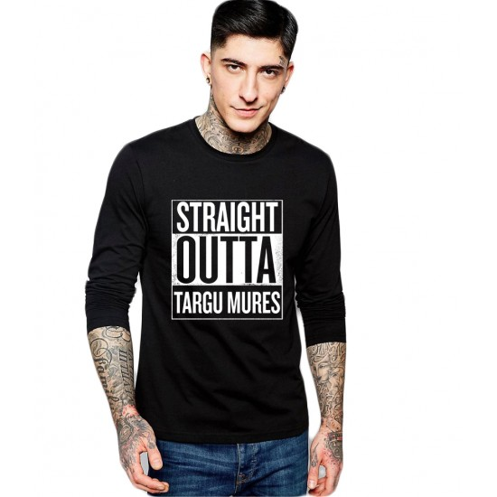Bluza barbati neagra - Straight Outta Targu Mures