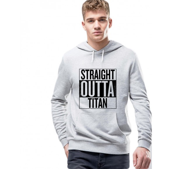 Hanorac Barbati Gri - Straight Outta Titan