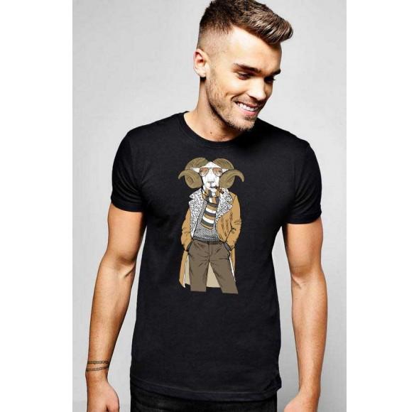 Tricou barbati negru - Berbec Fashion