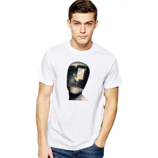 Tricou barbati alb - Dali - Globul