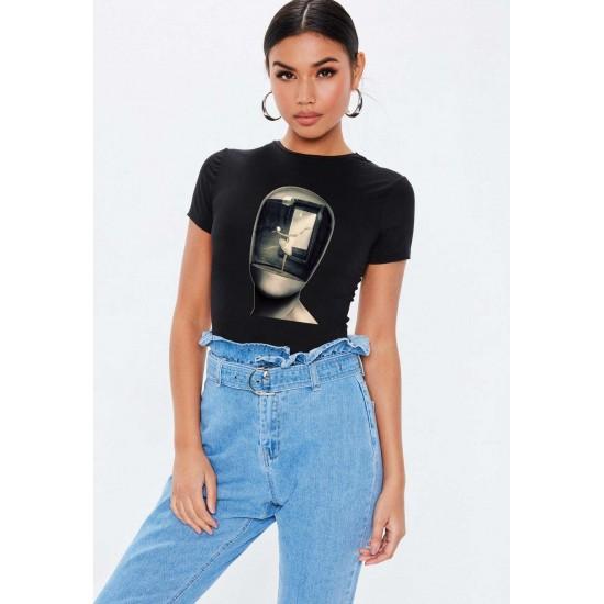 Tricou dama negru -  Dali - Globul