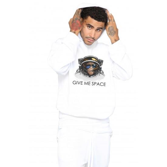 Hanorac Barbati Alb - Give me space