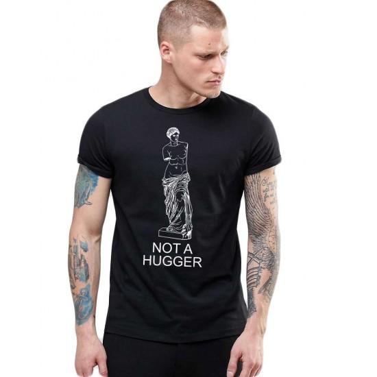 Tricou barbati negru - Not a hugger