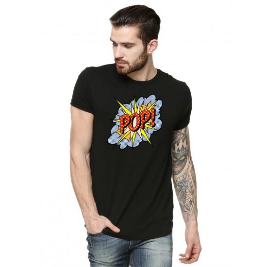 Tricou barbati negru - POP
