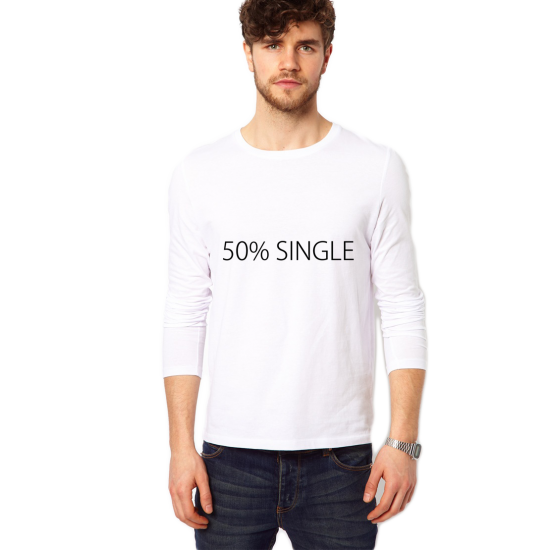 Bluza 50% Single - Alba