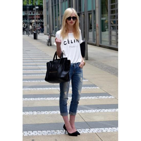 Tricou dama alb - Paris