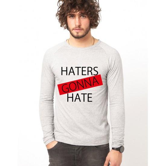 Bluza gri, barbati, Haters