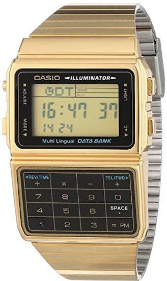 Ceas Unisex, Casio, Databank Calculator Gold DBC-611-GE