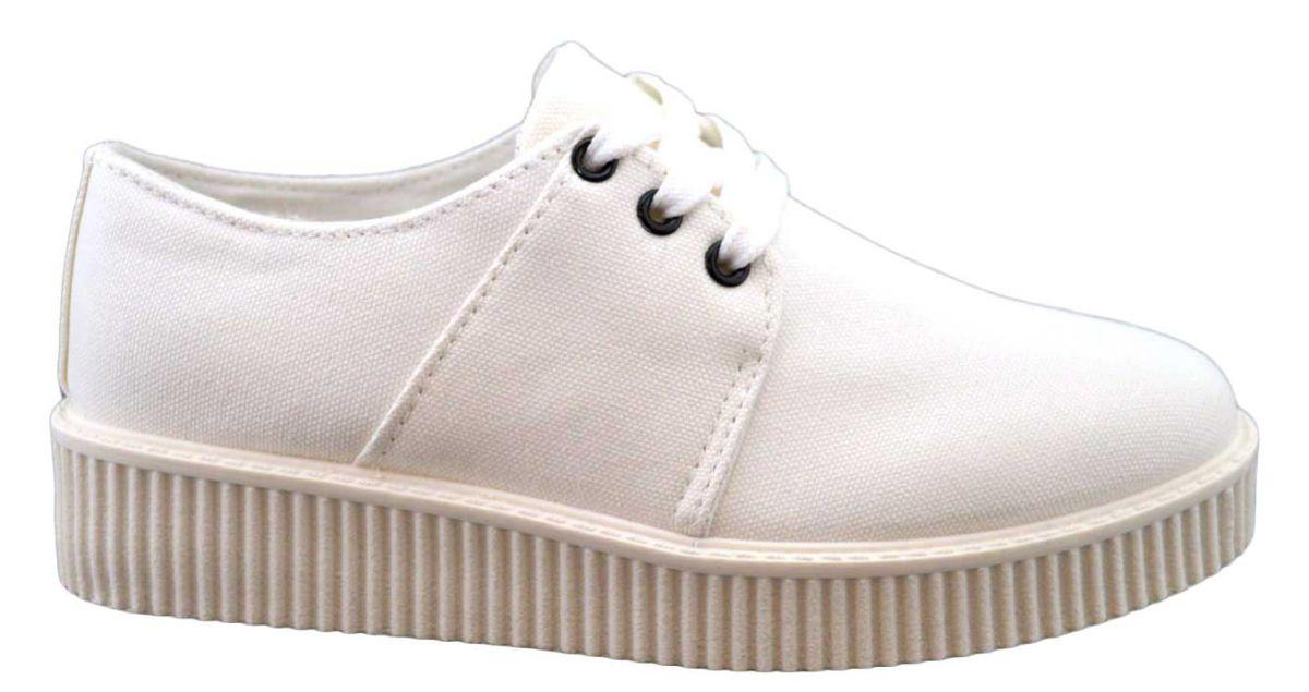 Imagine Pantofi Sport Dama Albi Cu Talpa Groasa