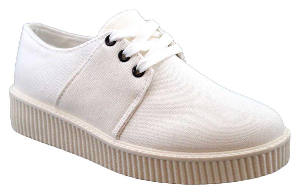 Pantofi Sport dama albi cu talpa groasa