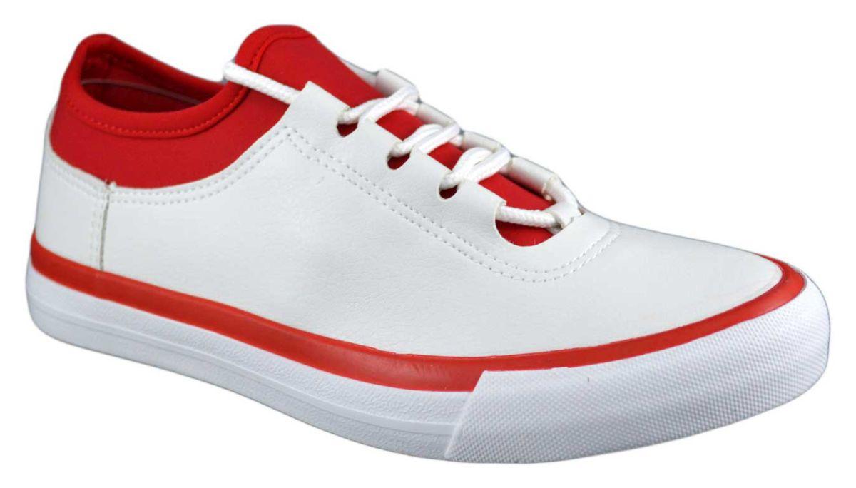 Pantofi Sport Dama Albi Si Elastic Rosu