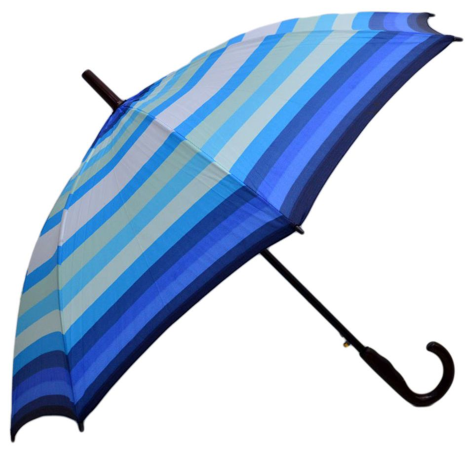 Umbrela tip Baston ICONIC Automata, Bleu Multicolor, Ø110cm, anti-vant