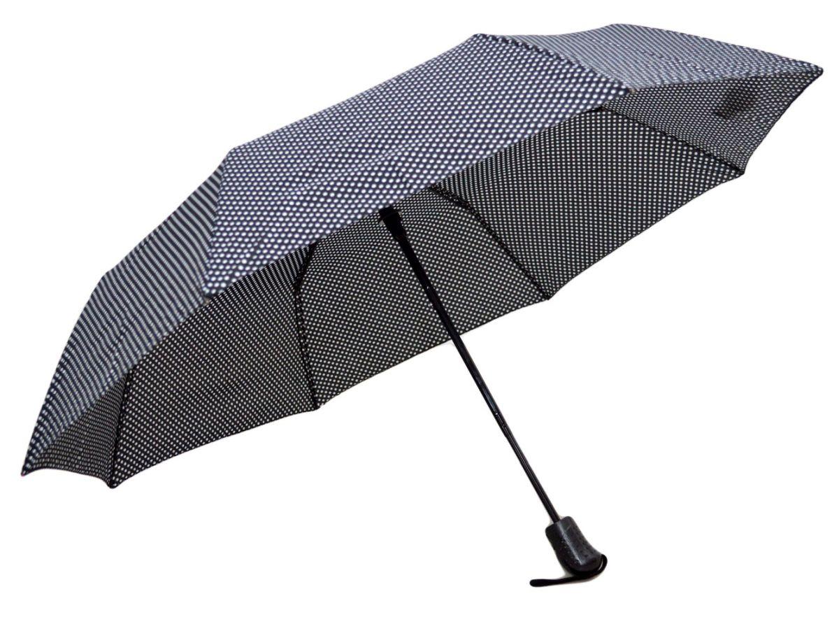 Umbrela Pliabila ICONIC Automata, Neagra cu buline, Ø110cm, articulatii anti-vant