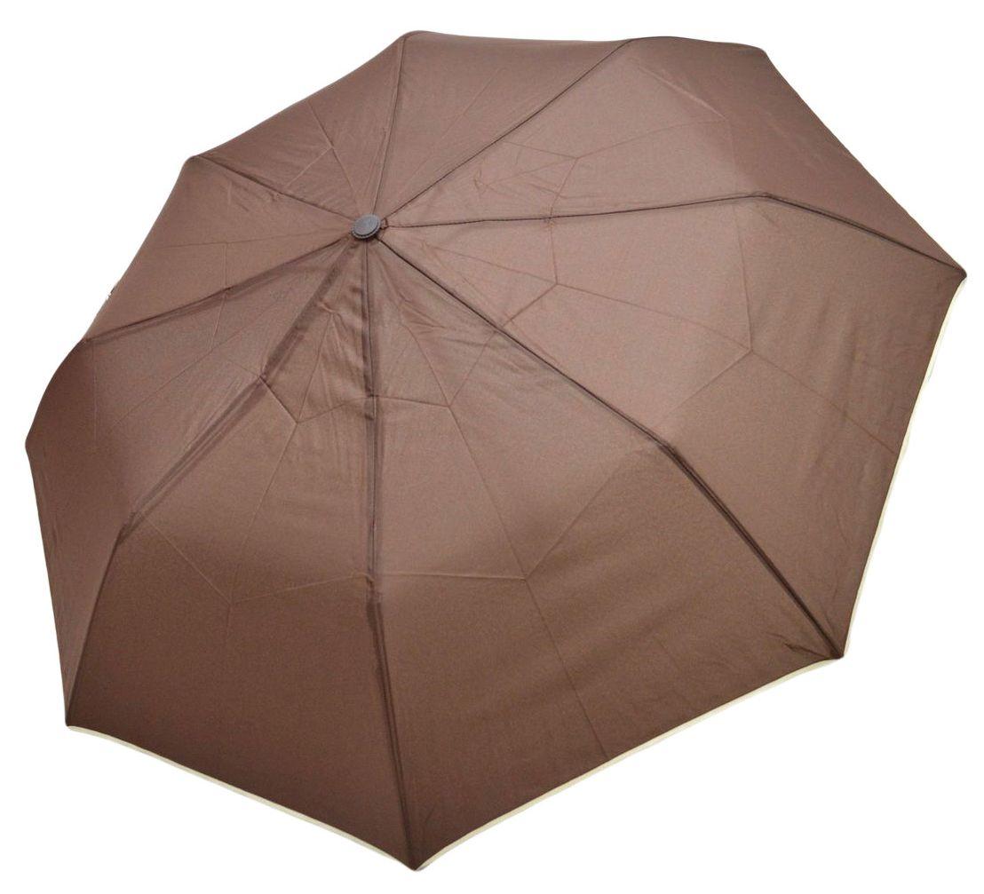 Umbrela Pliabila ICONIC Automata, Maro cu margini bej, Ø110cm, articulatii anti-vant
