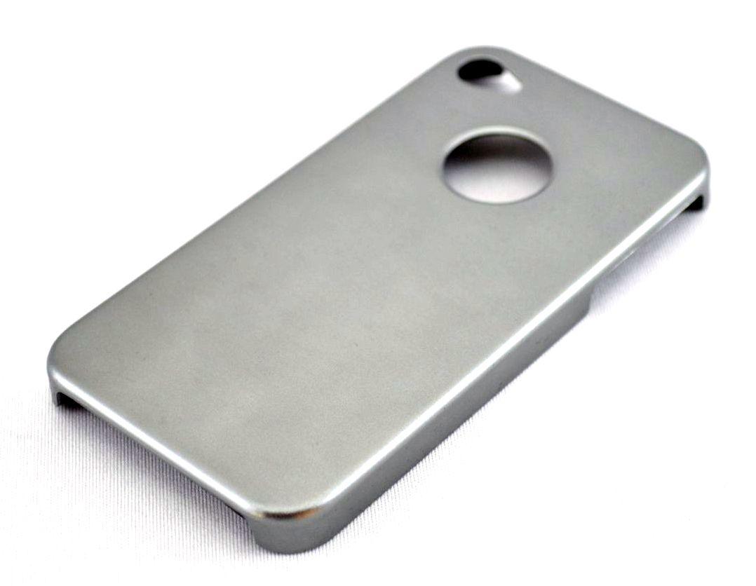 Husa metalica iPhone 4/4S - Argintiu