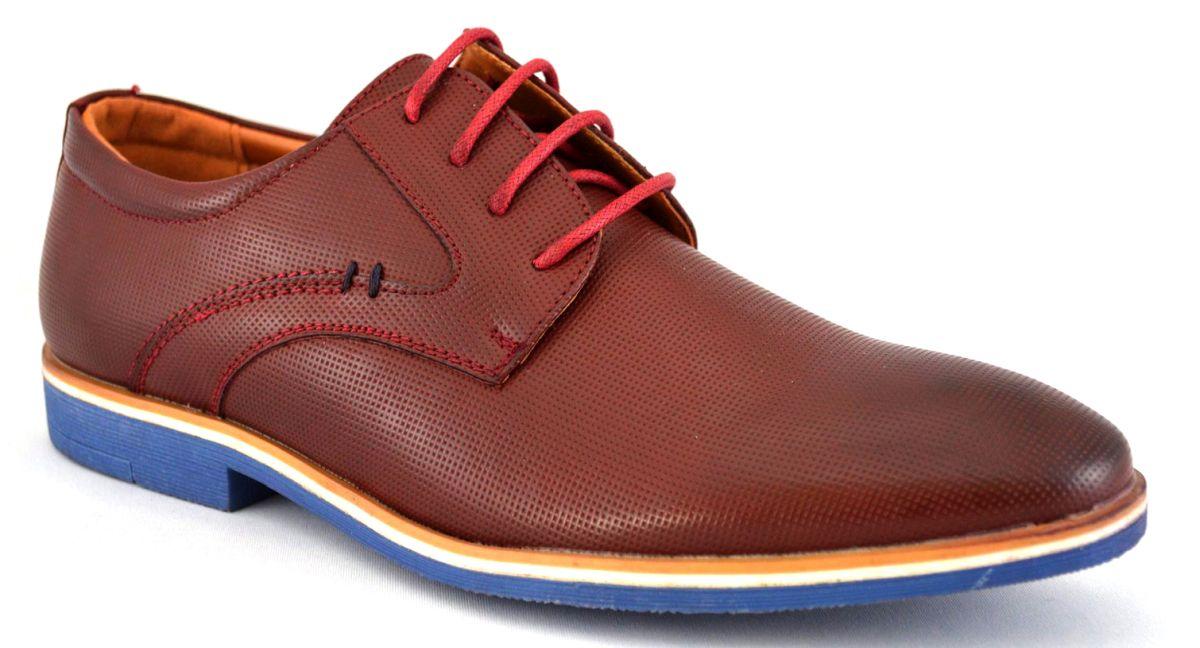 Pantofi barbatesti Maro-Bordo cu talpa albastra – THEICONIC