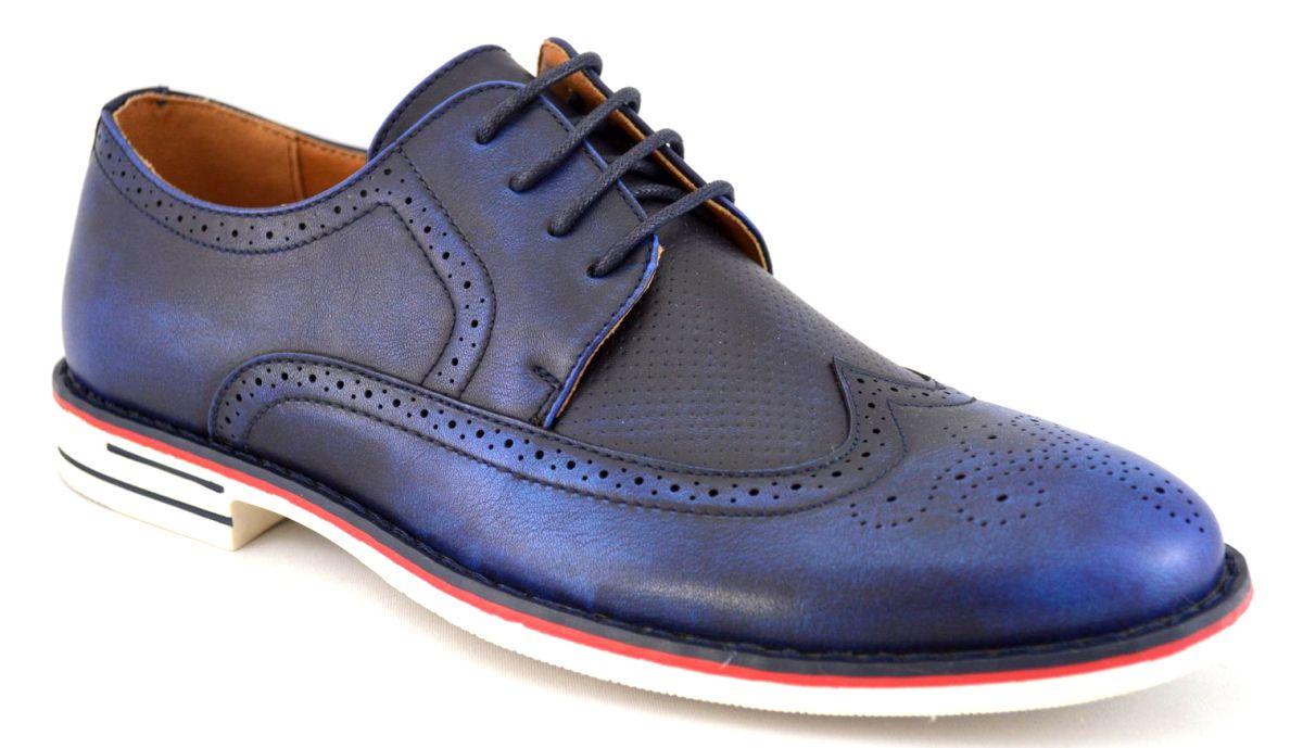Pantofi barbatesti bleumarin eleganti vintage – THEICONIC