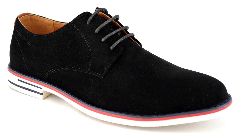Pantofi barbatesti negri cu talpa alba uni – THEICONIC
