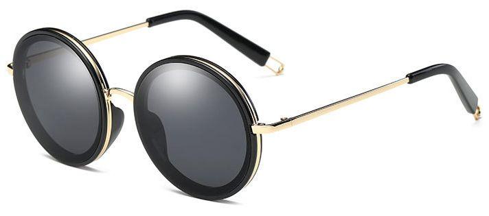 Ochelari de soare Rotunzi Negru - Auriu thumbnail
