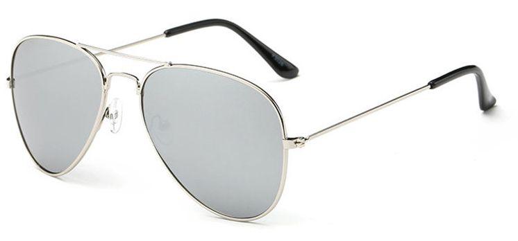 Ochelari de soare Aviator Gri Oglinda - Argintiu thumbnail